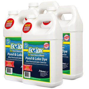 EcoLox Blue Pond & Lake Dye - 4 Gallon 3X Concentrate