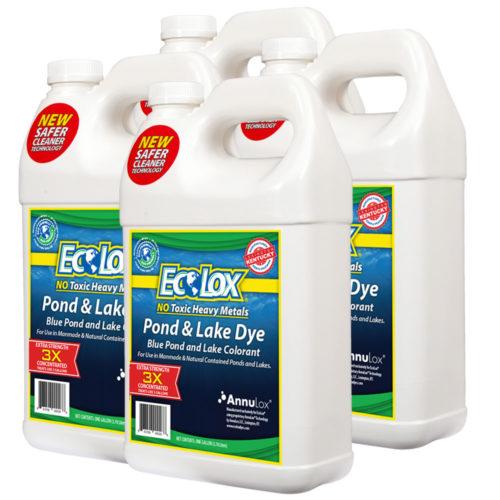EcoLox Blue Pond & Lake Dye – 4 Gallon 3X Concentrate