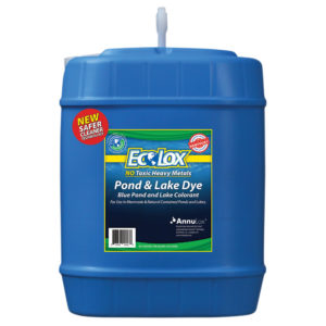EcoLox Blue Pond & Lake Dye - 5 Gallon 1X Original Formula