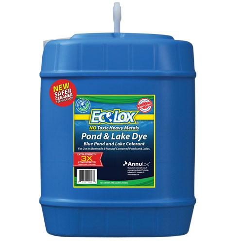 EcoLox Blue Pond & Lake Dye - 5 Gallon 3X