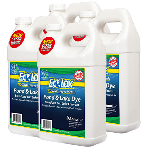EcoLox Blue Pond & Lake Dye - 4 Gallon 1X