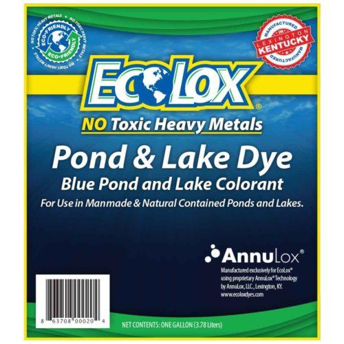 EcoLox Blue Pond Dye Front Label